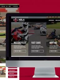 NOLA Motorsports Park – Website Mockup Promo