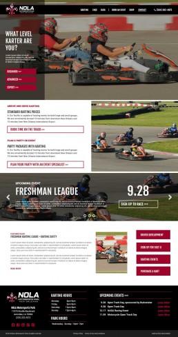 NOLA Motorsports Park – Website Mockup – Karting