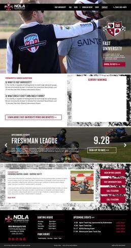 NOLA Motorsports Park – Website Mockup – Fast University