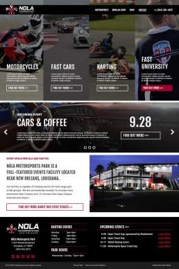 NOLA Motorsports Park – Website Mockup – Homepage
